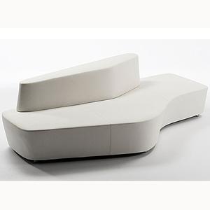 布艺组合沙发创意个性办公沙发会客区异形沙发商务公共区域沙发