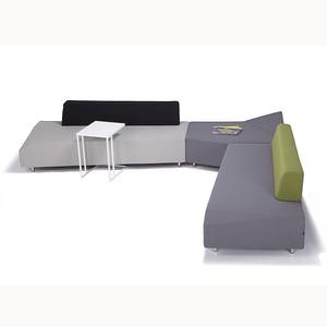 创意布艺沙发公共休闲商务沙发办公室会客沙发