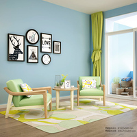 北欧布艺沙发三人实木沙发组合北欧单人沙发椅简约现代双人沙发