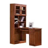 实木电脑桌_中式实木电脑桌 实木书桌办公桌 橡胶木写字台组合