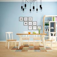 北欧餐桌椅 西餐厅餐桌椅组合 简约实用小户型实木餐桌