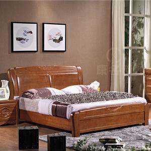 实木双人床_1.81.5米实木双人床 气压储物高箱床