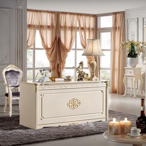 欧式书房 实木书桌四门书柜欧式家具