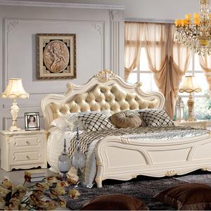 欧式风格卧室床衣柜状台组合套装